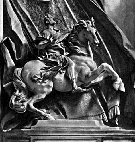 Gian Lorenzo Bernini's statue of Constantine on horseback at the Vatican.